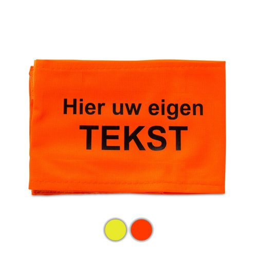 mouwband-oranje-bolletjes